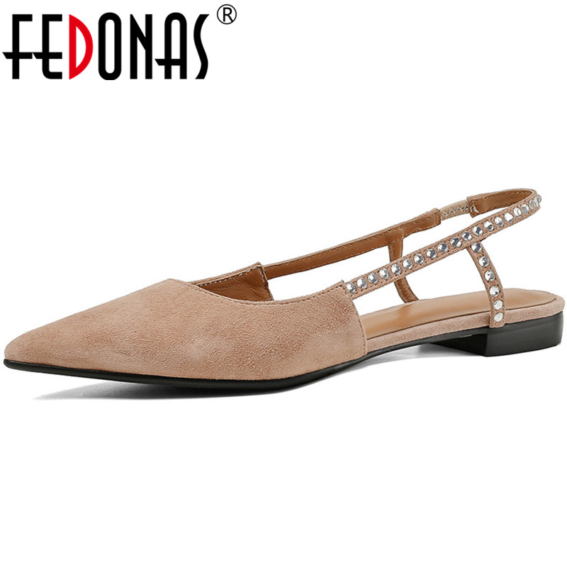 FEDONAS Rhinestone Women Sandals Square Heels Slip On Party Wedding Night Club Shoes Spring Summer Brand Design Pumps Shoes