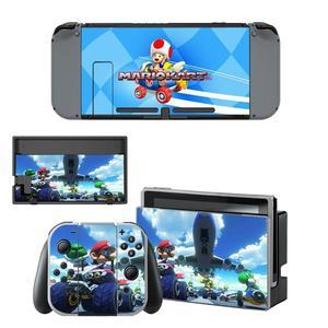 Image 2 - Mario kart Nintendoswitch peau nintention interrupteur autocollants décalcomanie pour Nintendo Switch Console Joy con contrôleur Dock peaux vinyle