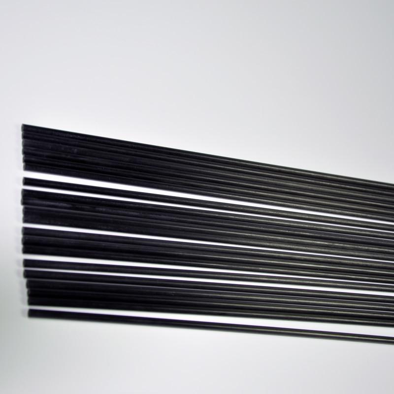 5Pcs Carbon Fiber Rod Length 500mm Diameter 1mm 1.5mm 2mm 2.5mm 3mm 3.5mm  For RC Airplane Quadcopter