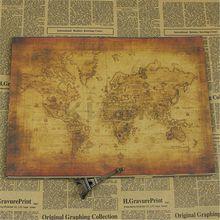 Grande Vintage estilo Retro papel póster globo viejo mundo mapa regalos escuela Oficina suministros 71x51cm