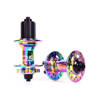 KRSEC Rainbow colored bicycle hub 114 clicks mountain bike hubs 4 NBK bearings 142 * 12MM 135 * 10MM 32 Holes 4 claws 8 11S