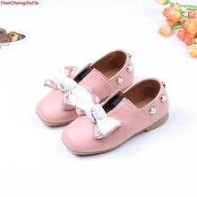Обувь принцессы для девочек кожаные модельные туфли детские белые свадебные черные ботинки школьные для детей обувь на мягкой плоской подошве