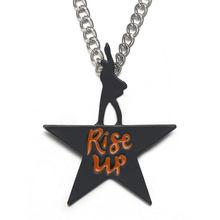 Rise up Hamilton collana con ciondolo collana con stella nera collana con girocollo gioielli musicali di londra Fan regali per donne collare Kolye