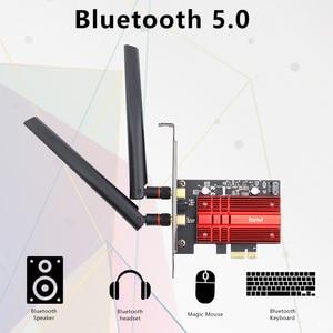 Image 3 - 무선 데스크탑 WiFi6 인텔 AX200 카드 블루투스 5.0 듀얼 밴드 2974Mbps PCIe Wifi 어댑터 AX200NGW 802.11ax Windows 10