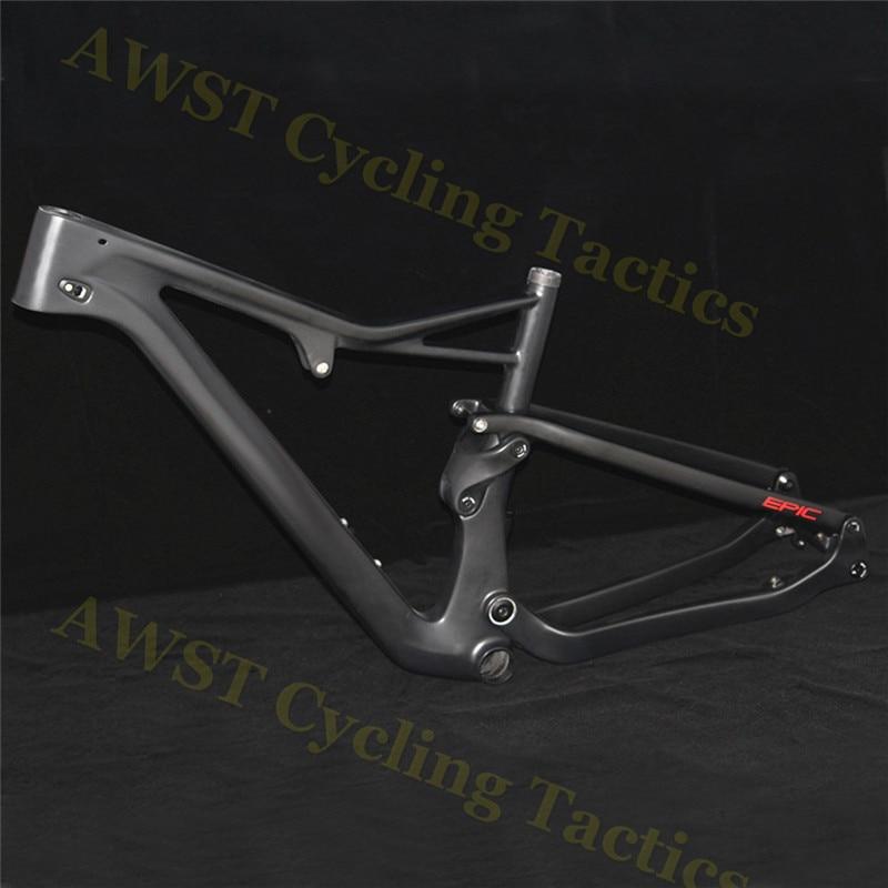 Suspension Ultralight 2450g T1000 Carbon Fiber MTB Bike Frame with OEM ODM Brand Logo Size|Bicycle Frame| |  - title=