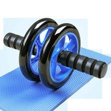 Rolo de roda ab rodas de exercício abdominal rodas antiderrapantes alças fitness workout em casa ginásio equipamentos de exercício para construir músculo