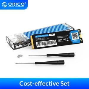 ORICO PSSD 128GB 256GB 512GB 1TB M.2 NVME SSD 2280 Internal SSD With Transparent SSD Case M Key External USB3.1 Gen2 10Gbps
