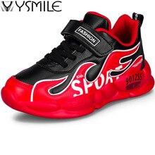 Tick Sole Leather Waterproof Kids Sneakers Non-slip Soft Boys Running Shoes Children Sport Outdoor Child Walking Shoe