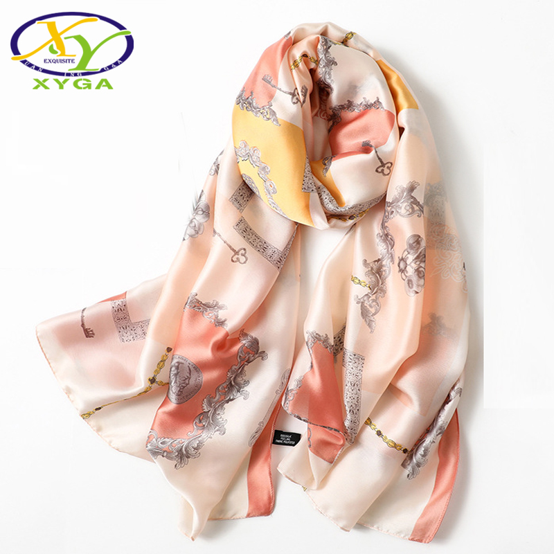 Silk Satin Women Long Scarves Luxury Spring Ladies Beach Soft Wraps Thin Summer Female  Luxury Shawls Autumn Pashminas