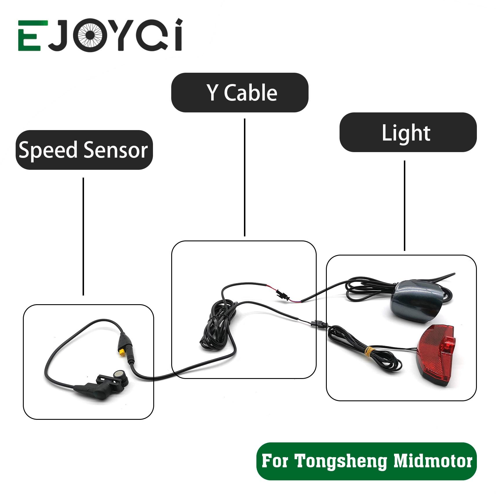 Tongsheng Mid Drive Motor Speed Sensor with Y Splitter 6V Headlight Taillight