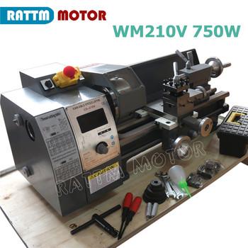 WM210V CNC mała tokarka zestaw grawerowanie metalu drewna maszyny do obróbki drewna z 750W wrzeciona tanie i dobre opinie RATTMMOTOR CN (pochodzenie) Poziome Nowy Normalne 850x310x320mm 210mm 140mm 400mm 100mm 38mm 3Jaw 125mm infinitely variable speeds