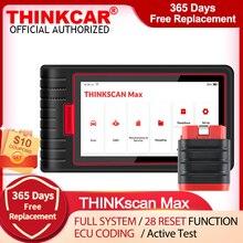 جهاز اختبار احترافي لقارئ شفرة السيارات من Thinkcar طراز thinkecast Max مع وظيفة إعادة ضبط 28 مجانية PK CRP909/MK808