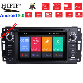 Octa Core Android 9.0 Car DVD GPS Radio Navigation For Jeep Cherokee Compass Commander Wrangler/DODGE Caliber/Chrysler C300 SWC