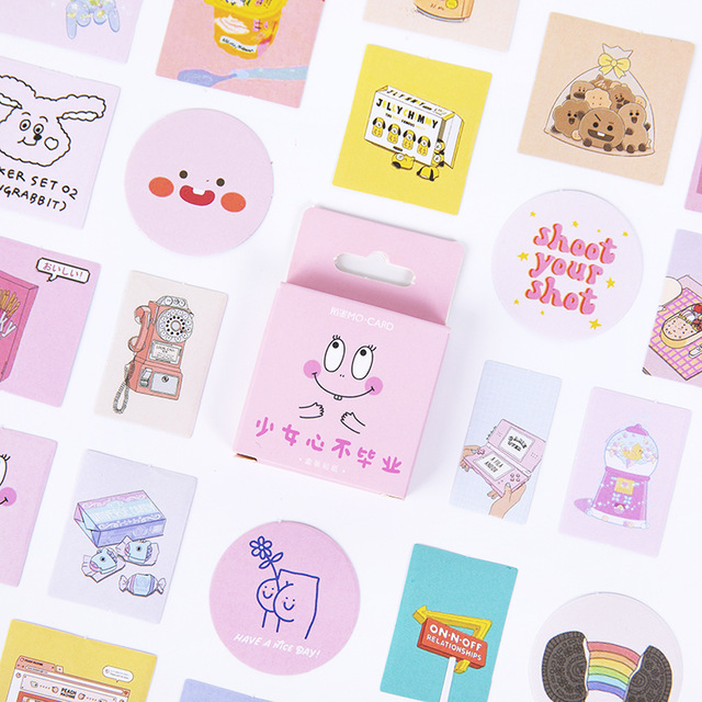 Girl Heart Does Not Graduate Bullet Journal Decorative Stationery Mini Stickers Set Scrapbooking DIY Diary Album Stick Lable