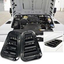 Embellecedor lateral para capó de coche, cubierta de acero para cuchara de entrada de flujo de aire, Ventilación de nieve, para Land Rover Defender, 1 par