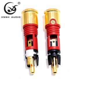 Image 3 - XSSH AUDIO 8pcs Free shipping 0110Cu nextgen signature RCA 2 sets of 8 pieces copper high end connector Male Plug