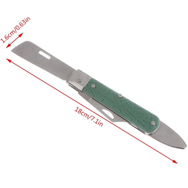 Florist Tool Fold Rose Tree Cutter Nursery Graft Cut Budding Garden Fruit Bark Knife Seedling Lifter Blade