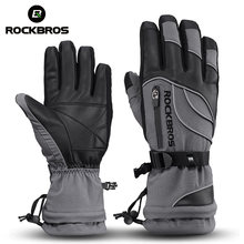 ROCKBROS -40 Degree Winter Cycling Gloves Thermal Waterproof Windproof Mtb Bike Gloves for Skiing Hiking Snowmobile Motorcycle