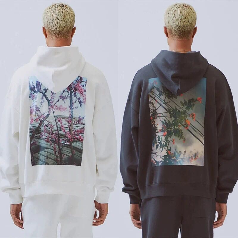 QoolXCWear  Men/women Print  Hoodies Sweatshirts Kanye West Loose Ovesized Hoodies Essentials Hip Hop Cotton Sweatshirts