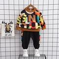 Kinder Herbst Anzug Lange Ärmeln Mode Kleidung 1-4 Jahre Alte Baby Jungen Westlichen Stil Sweatershirt + Hose Set kinder Outfits