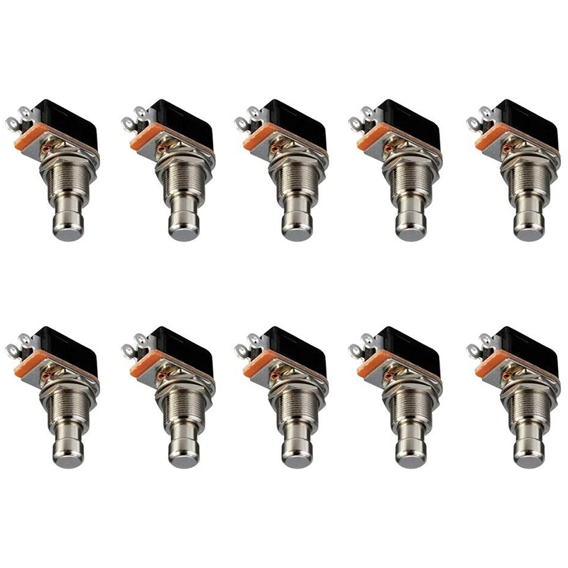 Hot Promotion Guitar Switch Guitar Effects Pedal Box Momentary SPST Button Stomp Foot Switch Push Button Pack of 10 Guitar Parts