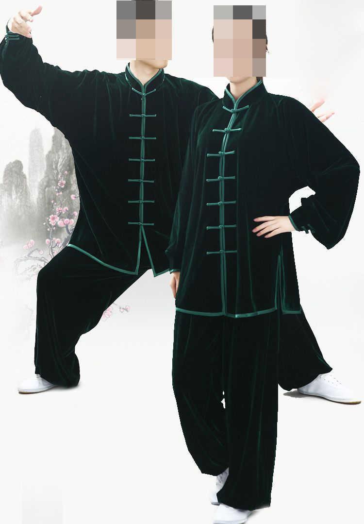 Unisex Herbst & Winter warme pleuche tai chi taiji anzüge martial arts kleidung kung fu wushu uniformen grau/lila /blau/rot