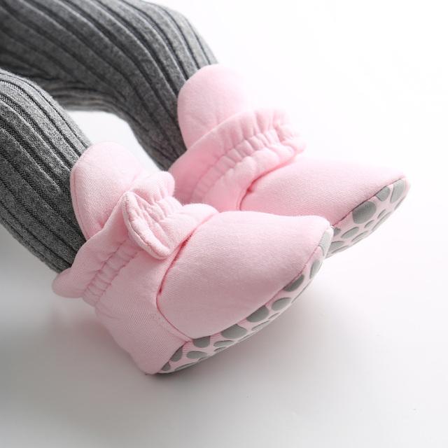 Anti-slip Warm Infant Crib Walking Shoes