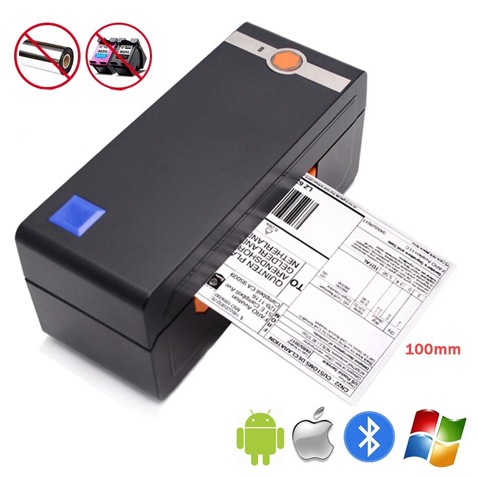 Принтер для тепловой печати штрихкодов-ярлыков поддержка Ebay 4 × 6 принтер для этикеток, используемый в iOs, Android, MAC, Windows