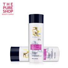 Keratynowy zabieg wygładzający 2 butelki 100ml 5% formalin keratynowa terapia dla włosów 2018 gorąca sprzedaż produkt do włosów bezpłatna wysyłka