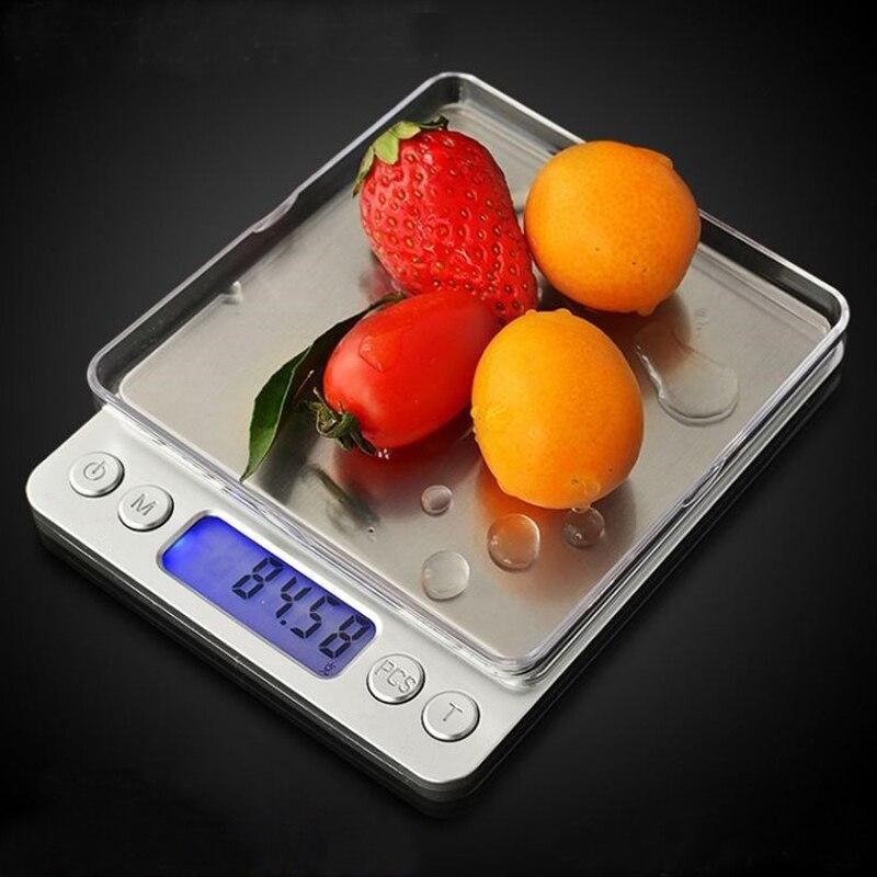 Портативные электронные пищевые весы 2019 г/3000 г, весы для почтовых кухонных украшений, максимальный вес 0,1 г 500, точные весы 0,01