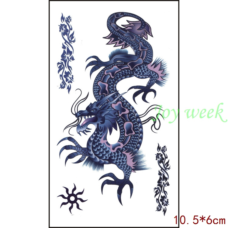 Waterproof Temporary Tattoo Sticker Dragon  10.5*6 Cm Tatto Stickers Flash Tatoo Fake Tattoos For Men