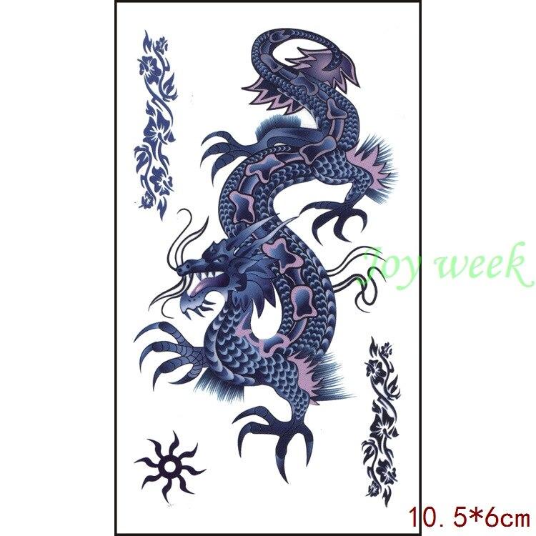 Waterproof Temporary Tattoo Sticker Dragon  10.5*6 Cm Tatto Stickers Flash Tatoo Fake Tattoos For Men