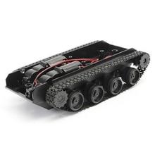 Car-Chassis-Kit Tank Rubber Track Toys Crawler Robot Arduino 130-Motor for Diy Children