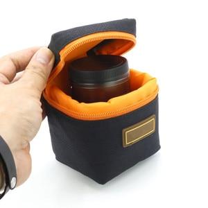 Image 1 - 1PCS 7mm Thick Padded Camera Lens Bag Shockproof Durable Soft Camera Lens Protective Pouch Bag Case for DSLR Camera Lens