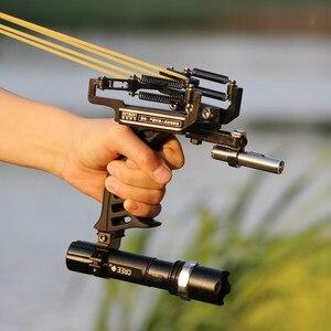 2020 Высококачественная лазерная Рогатка, черный охотничий лук, катапультный рыболовный лук, уличная Мощная Рогатка для стрельбы, арбалет, лу...
