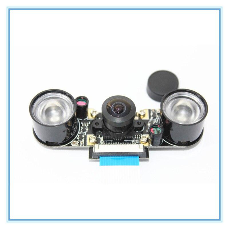 Fisheyes Raspberry Pi 3 Model B+ Plus Camera 160 Degree 5MP Night Vision Camera + Infrared Light Wide Angle RPI Camera