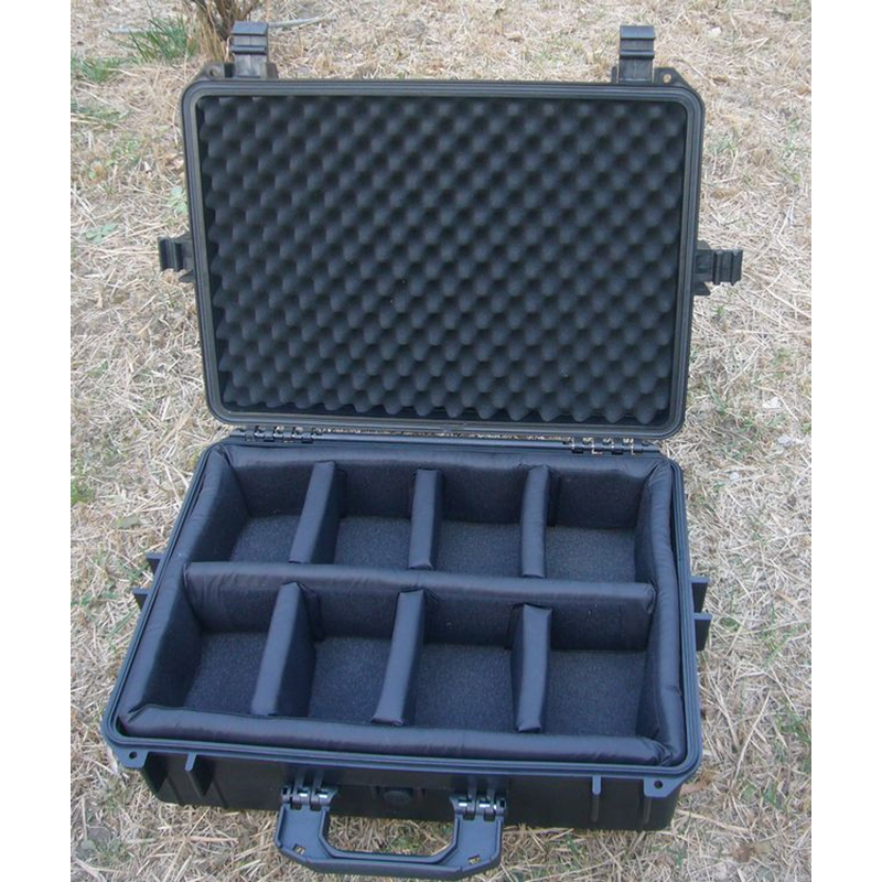 500x350x200MM ABS szerszámtok szerszámkészlet Ütésálló, lezárt, vízálló biztonsági tok felszerelés kamera tok előre vágott habbal
