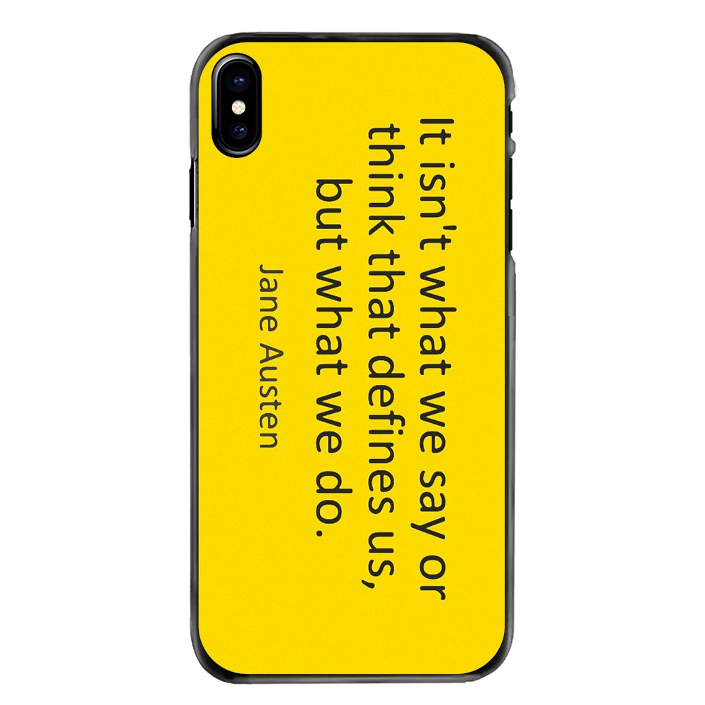 Phone Bag Case It isn't what we say or think that defines For LG G6 L90 V20 Nexus 5X K10 Moto E E2 E3 G G2 G3 G4 G5 PLUS X2 Play image