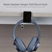 Universal 3M Metal Headphone Hanger Durable Wall Mount Hook Desktop PC Monitor Earphones Stand Holder Accessories(China)