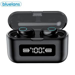 W1 TWS водонепроницаемый беспроводной Bluetooth 5,0 наушники Светодиодный дисплей питания сенсорное управление стерео Hi-Fi HD звонки в ухо наушники