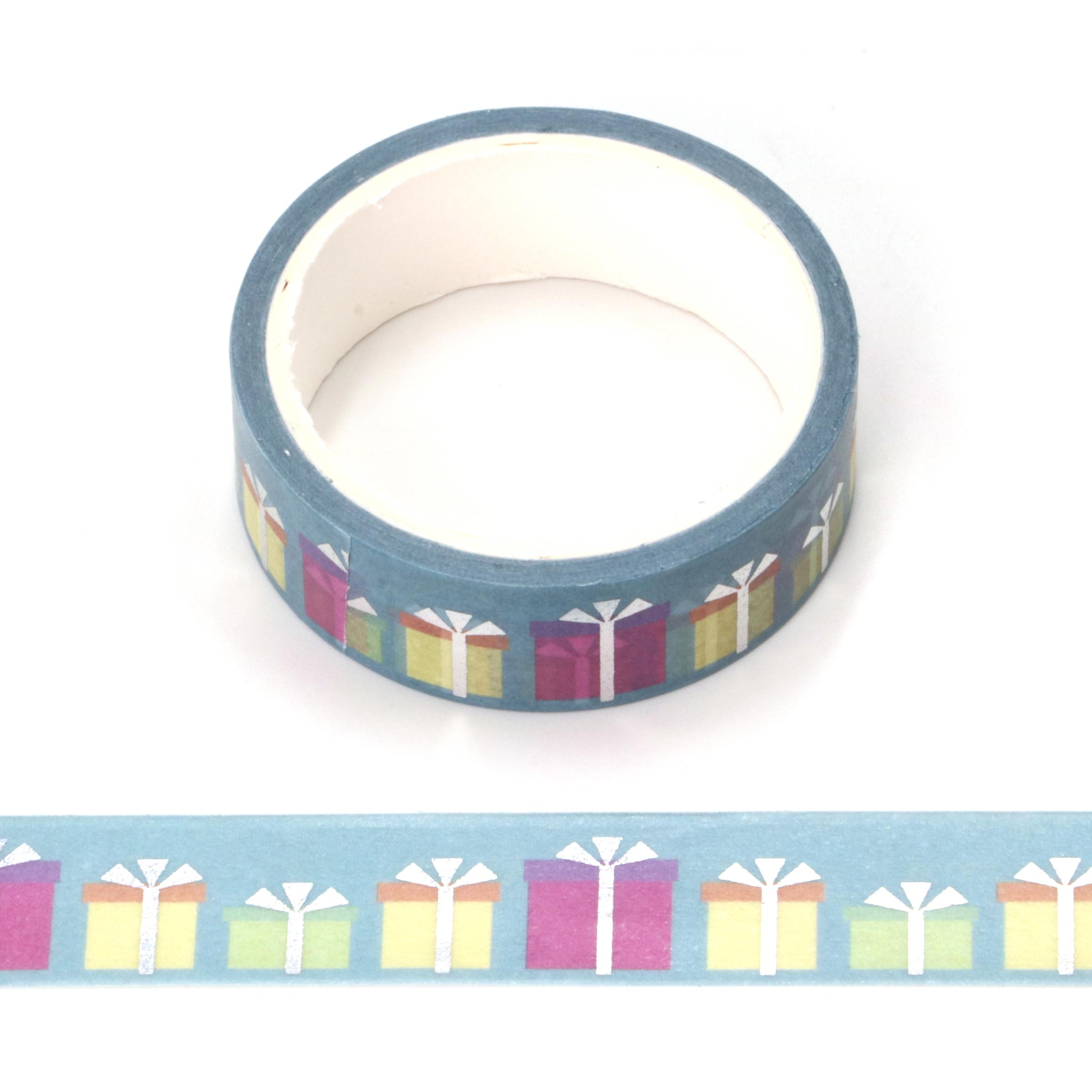 1PC Decorative Snow Deer Christmas Gift Washi Tape Rice Paper DIY Scrapbooking Adhesive Masking Tape 1.5cm*5m Stationery