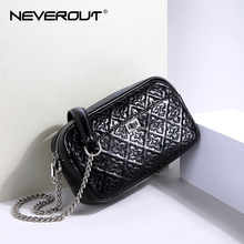 NeverOut Women Casual Candy Solid Color Inclined Satchel Small Cowhid Leather Messenger Bags Lady Crossbody Sling Flap