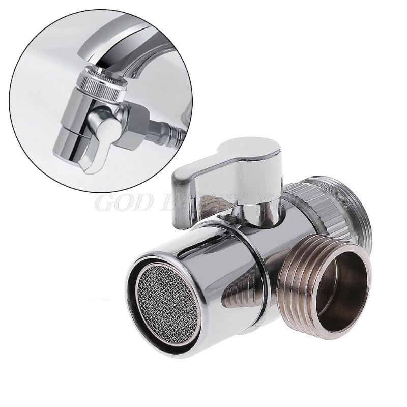 HNOGCHIGE Home Bathroom Kitchen Basin Sink Faucet Brass Diverter Polished Chrome Water Tap Filter Valve Replacement Part