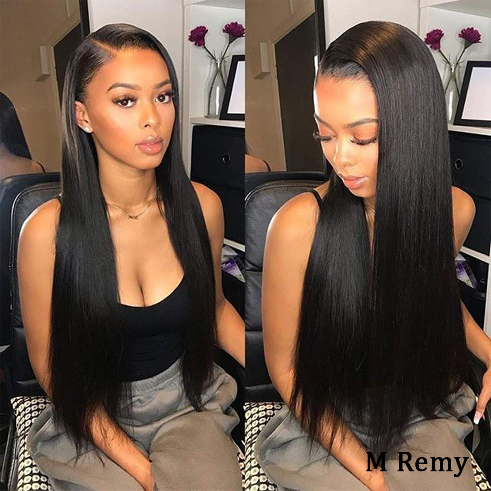 Amanda Peruvian Straight Hair Lace Front Wigs Pre Plucked Hairline 150% Remy Human Hair 13x4 Lace Frontal Wigs With Baby Hair