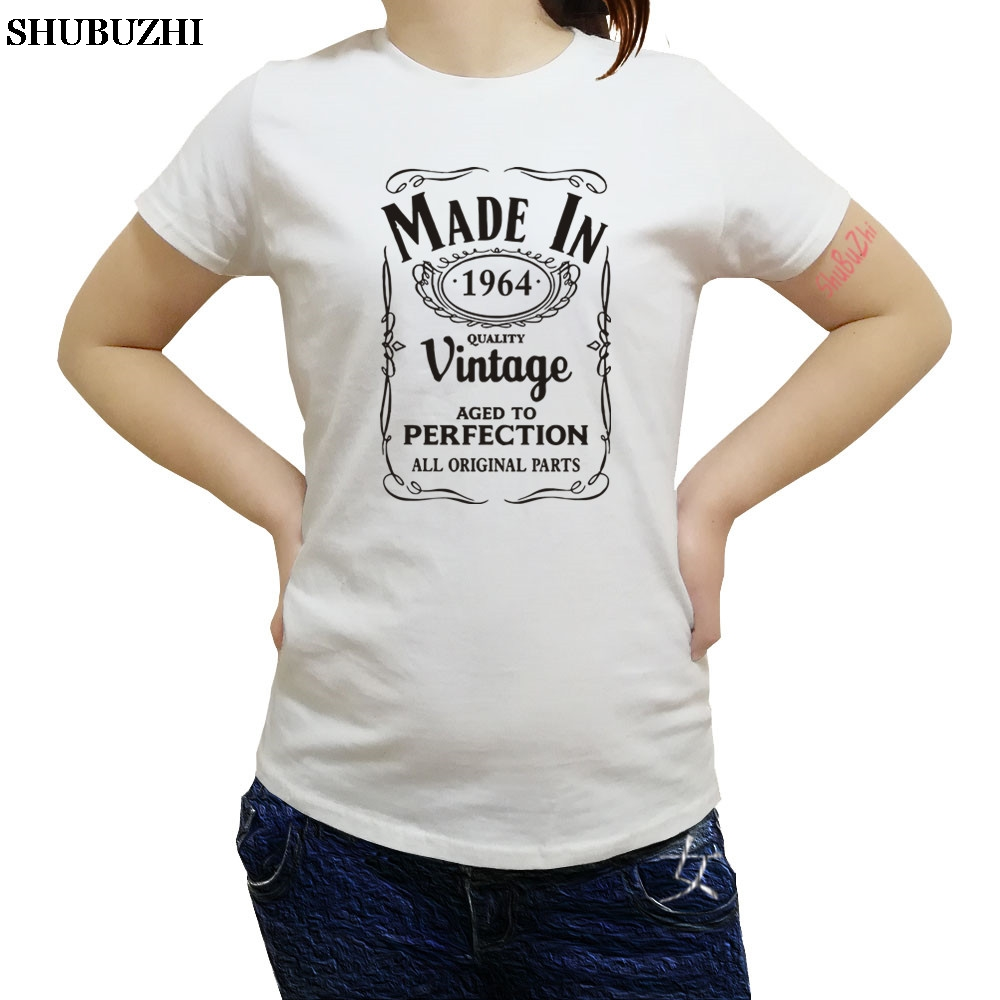 Made in 1964 T-Shirt Born 55th Year Birthday Age Present Vintage Funny Mens Gift
