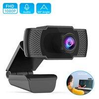 Webcam HD 1080P USB Kamera Plug & Play Web Cam Autofokus 2MP 30fps 1920x1080P Web Kamera mit Mikrofon für PC Laptop Livestream