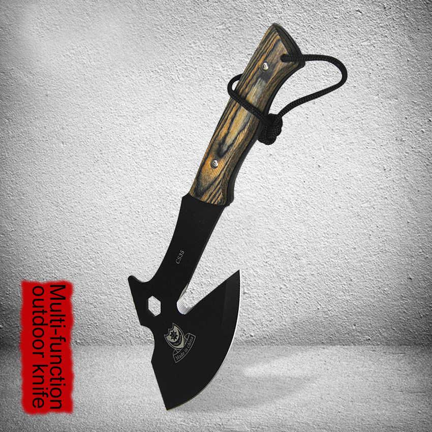 CS35 keskin hayatta kalma tomahawk eksen balta kamp el yangın baltası kemiksi saplı bıçak doğrama tahtası için et kemikleri