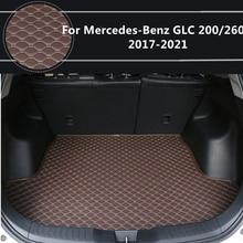 Плоский бортовой коврик для Mercedes-Benz GLC200 glc260 (2017-2021) 2018-19-2020 специальные коврики для багажника автомобиля водонепроницаемые коврики для багаж...