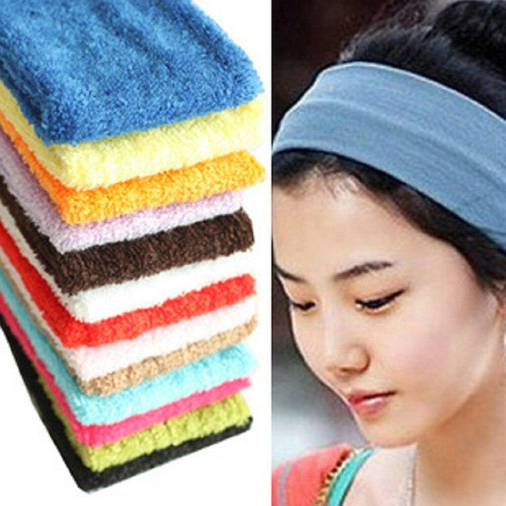 1PC Headband Women/Men Sweat Sweatband Headband Yoga Gym Stretch Head Band For Sport Elasticity Sweat Bands Sports Safety
