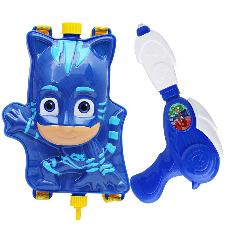 Pj Mask Model Catboy Owlette Gekko Children Backpack Spray Gun Parent-child Interactive Toy Figures Anime Gift For Kids Games